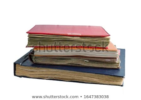 Odizolowany biały papieru książki nauki Zdjęcia stock © natika