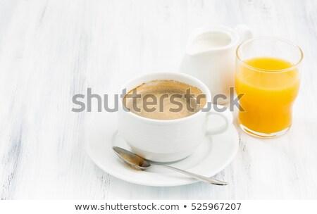 апельсиновый сок кофе таблице молоко завтрак Кубок Сток-фото © rabel