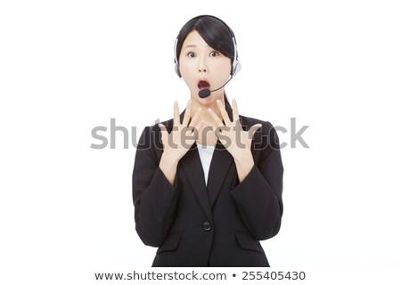 Сток-фото: Astonished Telephone Operator
