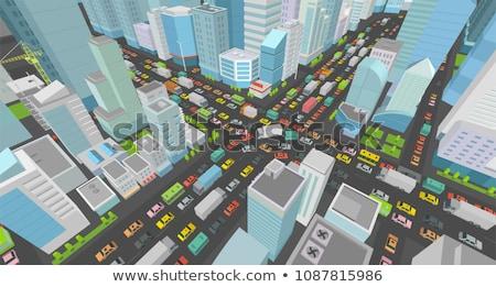 man · rijden · auto · bewegende · snel · snelweg - stockfoto © stevanovicigor