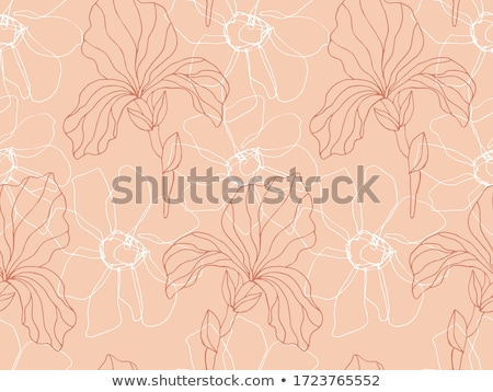 Sketch iris, vector vintage seamless pattern Stock photo © kali