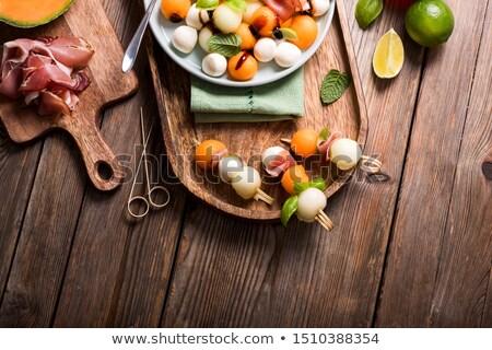 Melón mozzarella alimentos petróleo pelota cocina Foto stock © M-studio