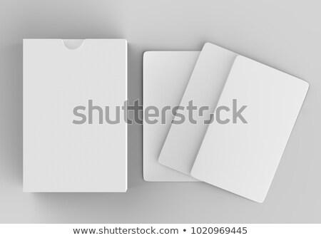 Stock foto: Packung · Karten · Spielkarten · weißem · Hintergrund
