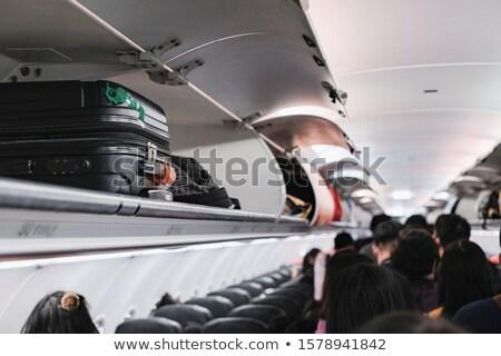 airplane overhead flying Stock photo © tungphoto