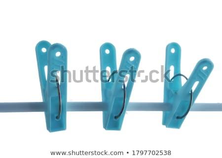 Blauw wasknijper 3D gegenereerde foto wasserij Stockfoto © flipfine