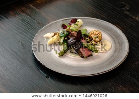 Autruche steak pommes de terre poivrons viande Photo stock © joker