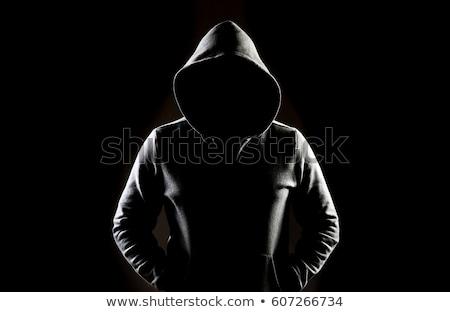 Irreconhecível homem desconhecido escuro quarto assustador Foto stock © stevanovicigor