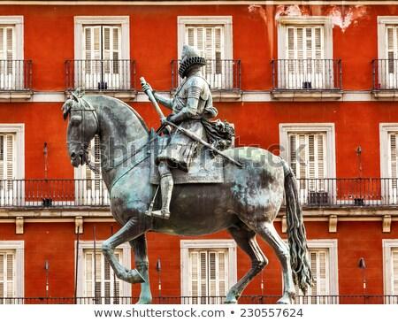 壁 景観 マドリード スペイン 有名な 広場 ストックフォト © billperry