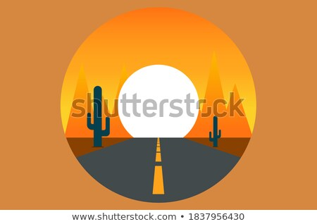 Road Vanishing to Distance With Sun Star Stock photo © jameswheeler