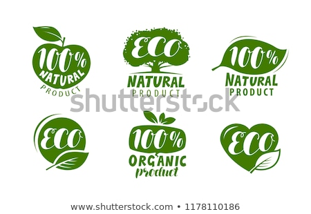 natural eco product labels stock photo © vadimone