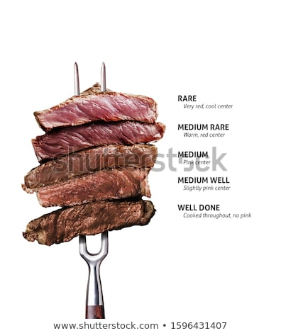 grillezett · disznóhús · tányér · piros · villa · paradicsom - stock fotó © zhekos