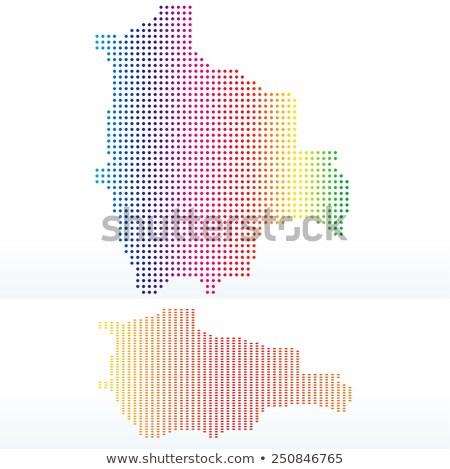 карта Боливия точка шаблон вектора изображение Сток-фото © Istanbul2009