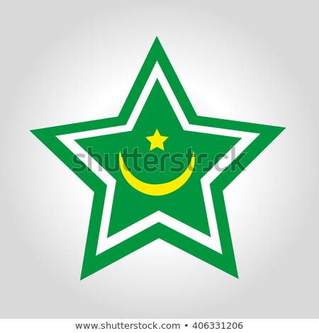 Map with Dot Pattern on flag button of  Mauritania Stock photo © Istanbul2009