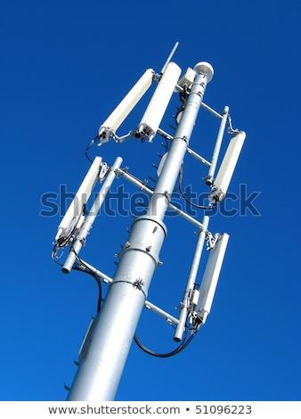 gsm · antenna · kék · ég · telefon · fém · hálózat - stock fotó © papa1266