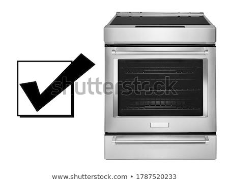 Modern gas cooker on white background Stock photo © ozaiachin