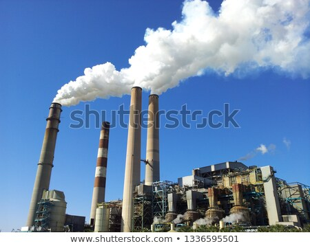 Industrial Plant with Smoke Stacks Stock photo © feverpitch