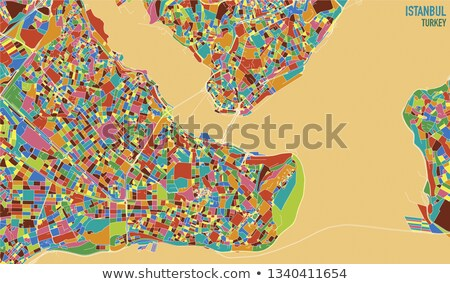 Istanbul Map with administrative districts where Beyoglu is pull Stock photo © Istanbul2009