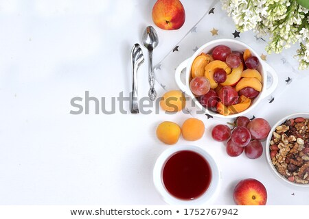 zöld · saláta · paradicsom · kenyér · friss · felszolgált - stock fotó © ozgur