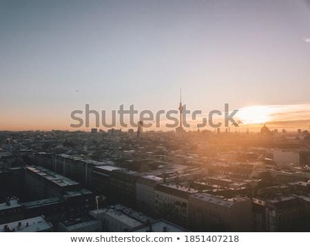 Berlín paisaje urbano madrugada Alemania viaje río Foto stock © AndreyKr