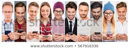 человека Дать sms мобильного телефона природы аннотация Сток-фото © carenas1
