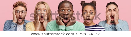 surprised face of woman and man stock photo © fuzzbones0