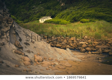 Stock photo: Small stone house in the forest of Scotland