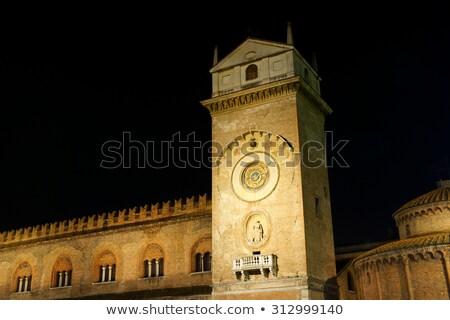 дворец ночь Италия часы башни древних Сток-фото © aladin66