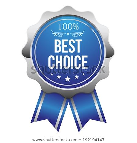 Legjobb választás kék vektor ikon terv üzlet Stock fotó © rizwanali3d