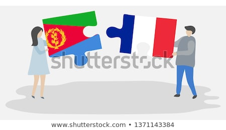 France and Eritrea Flags in puzzle Stock photo © Istanbul2009