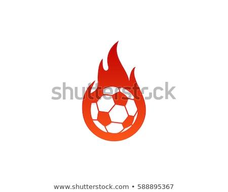 Futball tűzgömb futballista erő férfi szexi Stock fotó © alphaspirit