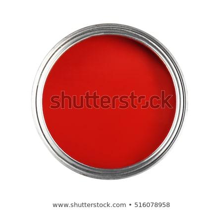 Açmak kalay can kırmızı boya yalıtılmış Stok fotoğraf © tetkoren