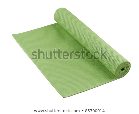 Rolled Green Yoga Mat Stock photo © shutswis
