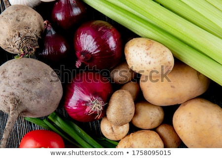 Stock photo: Carrots and other vegetables