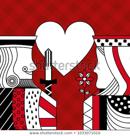 Rood diagonaal spades meetkundig 3D Stockfoto © Zebra-Finch