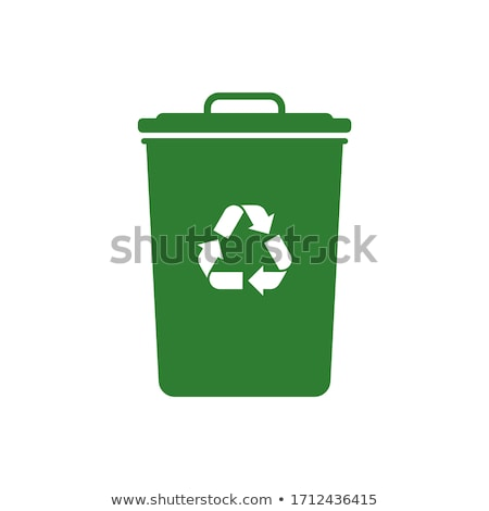 Recycle Bin Green Vector Icon Button Stock photo © rizwanali3d