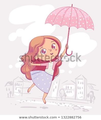 幸福 · 傘 · 幸せ · 女性 · 黄色 · 徒歩 - ストックフォト © goce