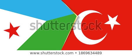 Turkey and Djibouti Flags Stock photo © Istanbul2009