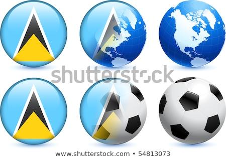 Foto stock: Canadá · bandeiras · quebra-cabeça · isolado · branco
