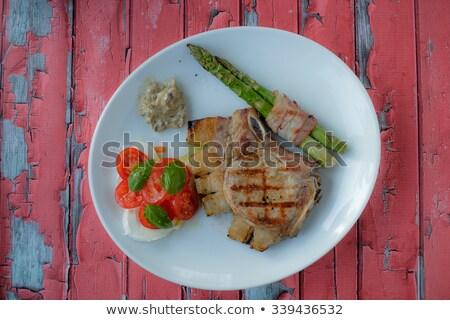 ステーキ 野菜 食品 木材 ディナー 肉 ストックフォト © phila54