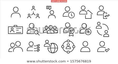 Usuário ícone empresário homens equipe comunicação Foto stock © kiddaikiddee