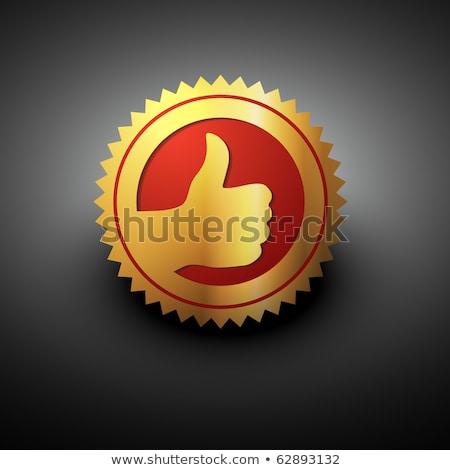 Thumbs Up Golden Vector Icon Design Stockfoto © PinnacleAnimates