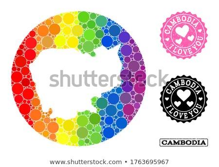 Cambodja homo kaart land trots vlag Stockfoto © tony4urban