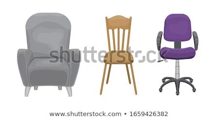 колесо Председатель фиолетовый вектора икона дизайна Сток-фото © rizwanali3d