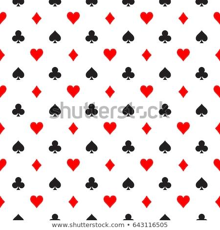 Nero poker carta simboli contanti Foto d'archivio © liliwhite