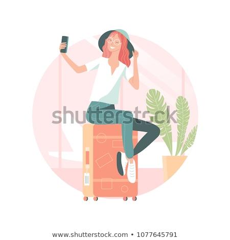 oturma · güzel · kız · eller · moda · vücut - stok fotoğraf © Paha_L