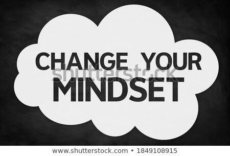 Apró gondolkodásmód motiváció idézet tábla kézzel rajzolt Stock fotó © tashatuvango