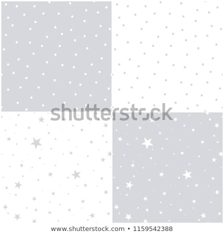 Falling snow or night sky with stars vector seamless pattern. Black and white hand drawn spray or sp Stock photo © rommeo79