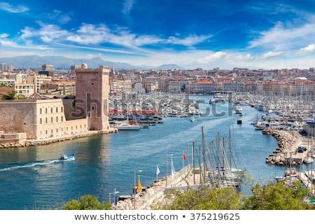 Panoramic view on Marseille, France Stock photo © smuki