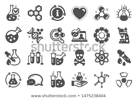 biokémia · ikon · terv · izolált · iskola · oktatás - stock fotó © wad