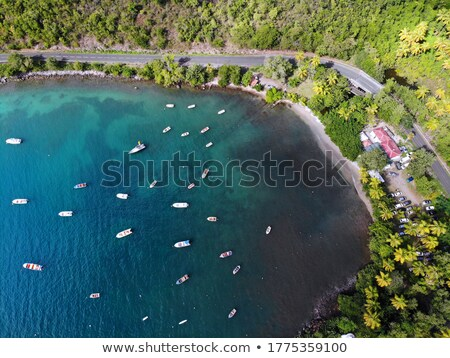 The fishing boat on the sea at sunset, Guadeloupe island Stock photo © CaptureLight
